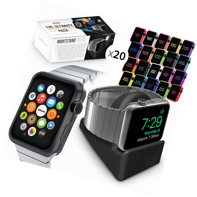 Orzly ULTIMATE PACK for Watch (38 MM) - Gift Includes Compact Stand & Multi-Pack