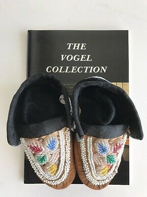 1880s Native American Iroquois Beaded Child's Moccasins Bud Vogel Collection