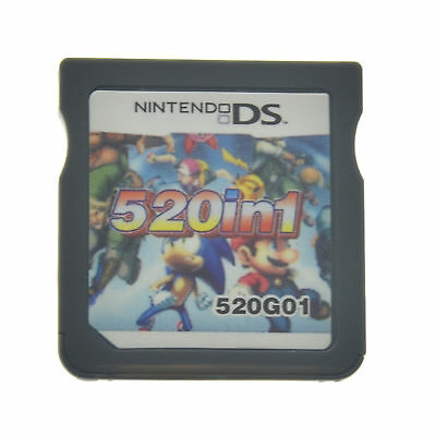 520 Games in 1 NDS Game Pack Card Super Combo Cartridge for NDS DSL 3DS New 3DS