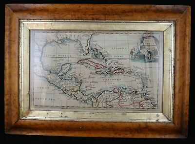 "Antique Caribbean Map ""West Indies"" w Florida, Thomas Jefferys, Pub.  1766"