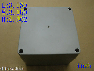 "New Plastic Project Box Enclosure Case Electronic DIY 3.150""x3.150""x2.362"""