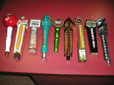 9 = Beer Tap Handles, Used, FREE SHIPPING!!!
