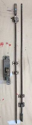 Vintage Russwin Solid Brass Door Push Bar Great Patina Rare