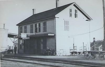 North Harwich, Massachusetts Railroad Depot Real Photo Postcard- RPPC