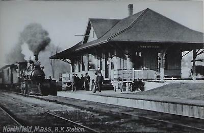 Northfield, Massachusetts Railroad Depot Real Photo Postcard- RPPC