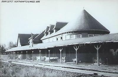 Northampton, Massachusetts Railroad Depot Real Photo Postcard- RPPC