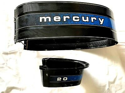 1979 Mercury 20Hp Outboard Side Wrap Around Cowl Housing Motor Cover & Lower Set