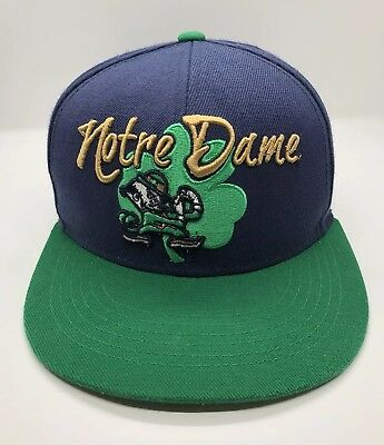NCAA Notre Dame Fightin Irish Cap Hat Adult Snapback Acrylic Wool Vintage