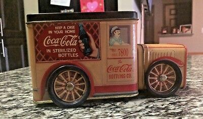 Vintage Coca Cola Bottling Company Delivery Truck Tin Toy 1995 collectible