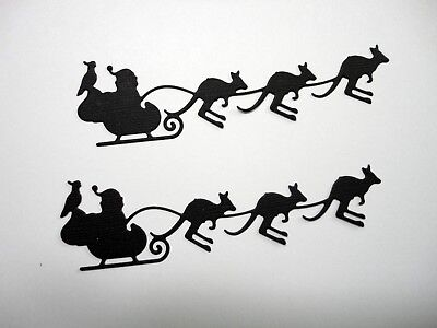Santa & his flying kangaroos die cut - Pkt 6