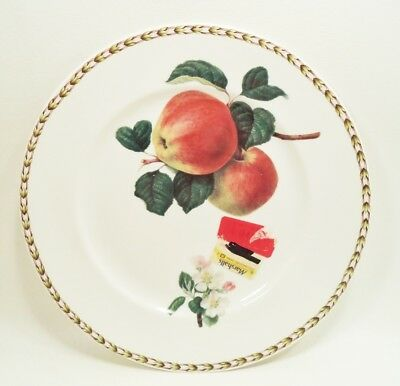 """New (Old Stock) Queen's Fine Bone China Hookers Fruit Dinner Plate Apple 11"""""""
