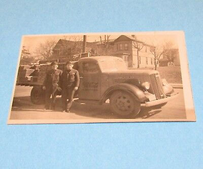 1939 Real Picture Postcard Coca Cola Truck & Drivers VG RPPC