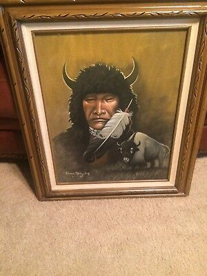 "Guy Nez Jr 26X221/2"" Original Oil Painting Signed by Native American Artist"