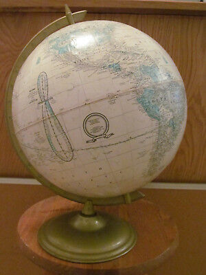 """Vintage George F. Cram Imperial 12""""  Globe  with metal base (with USSR)"""
