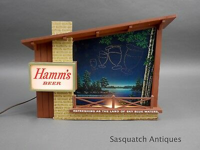 Vintage Hamm's Hamms Beer Starry Night Working Motion Sign Nice No Reserve !!