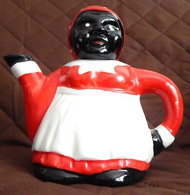 """Vintage Black Americana Teapot Excellent Condition, Never Used 6"""" High X 6"""" Wide"""
