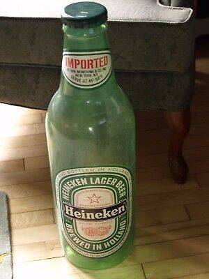 "Vintage Heineken Bottle/Bank Plastic 24"" Tall-2458"
