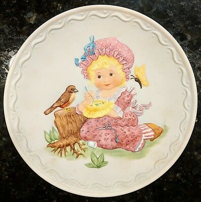 Franklin Mint Collectible Plate Cobblestone Kids 1982: A Stitch in Time