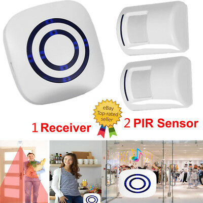 Wireless Sensor Motion Detector Doorbell Door Chime Set Security Alarm 38 Songs
