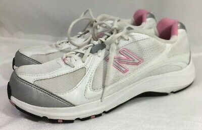 f16bccc681b0 New Balance 496 WW496WP Walking Athletic Shoes White-Pink-Silver-Womens Sz  12