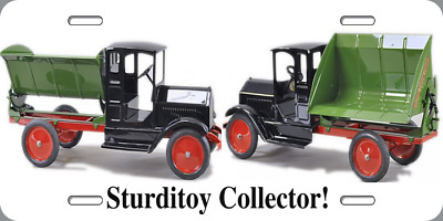 """Metal License Plate 6x12 """"Sturditoy Collector"""" Old Toy Truck Novelty Gift Xmas"""