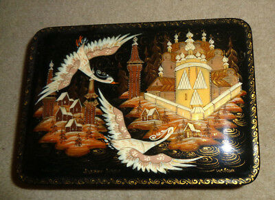 Beautiful Russian Lacquer Box  Artist Signed