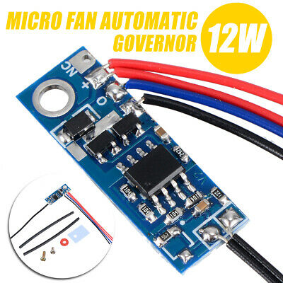 DC 12V Fan Temperature Speed Controller Automatic Governor CPU Router Module