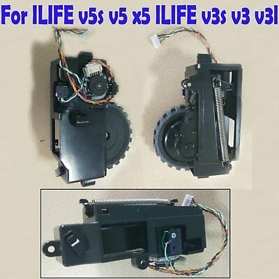 For ILIFE V5 V5S X5 V3 V3S V3L Vacuum Cleaner Left Right Wheel Spare Parts New
