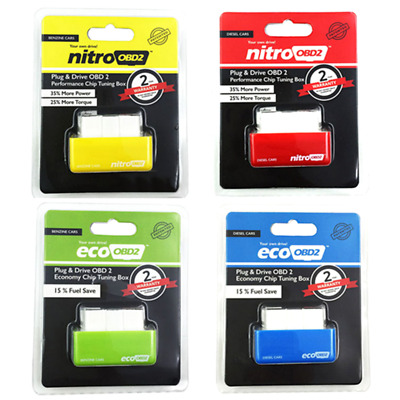 ECO OBD2 Detector Flasher Fuel Power Economy Chip Tuning Box for Petrol Cars UK