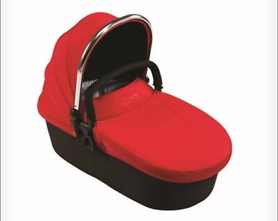 iCandy Strawberry Original pomegranate Red Carrycot Hood & Apron Pack