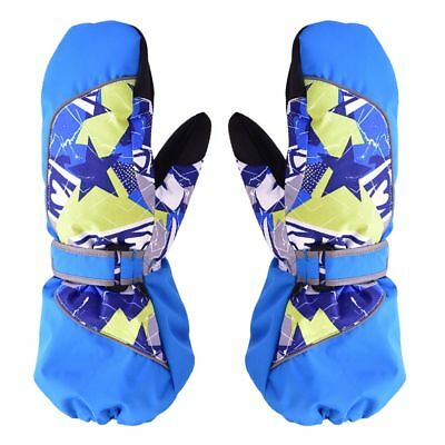 Children Winter Waterproof Kids Mittens Ski Snowboard Gloves S Royal Blue #ur