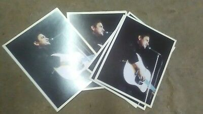 Lot of 5 Vintage Johnny Cash Record Insert Photographs !