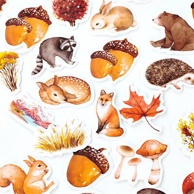 46pcs Forest Animals Stickers Kawaii Stationery DIY Scrapbooking Label Stickers
