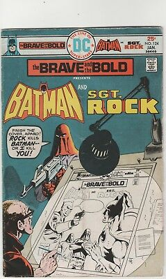Brave And The Bold # 124**** Ft Batman And Sgt Rock ****1976***fine Minus