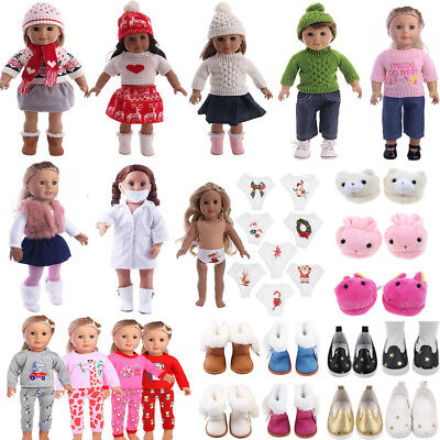 Puppenkleidung Outfits Schuhe 18inch American Girl Our Generation My Lifes  Puppe 4b0ace1655