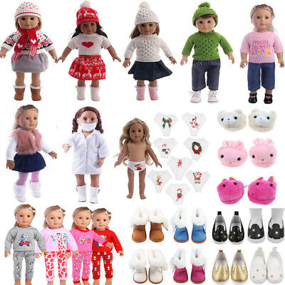 Doll Clothes Outfit Shoes for 18inch American Girl Our Generation My Life Xmas