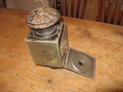 old carriage lamp.