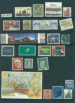 #1677..Germany..selection of 25 stamps plus 1 Miniature sheet-various years-