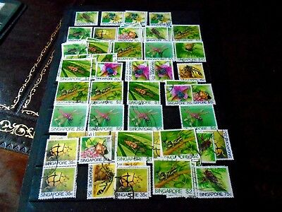 1985 Singapore Insects Issue Stamp Collection inc 4 no.$5, 2 no.$10