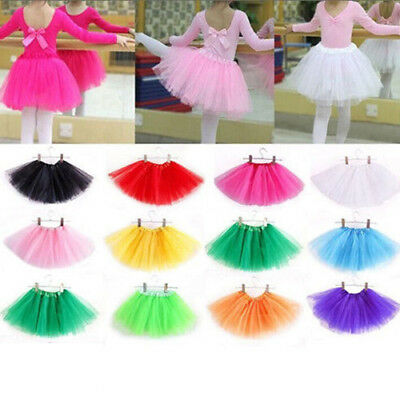 cc2daf463c36 CHILD KID GIRL Petticoat Rainbow Pettiskirt Bowknot Skirt Tutu ...