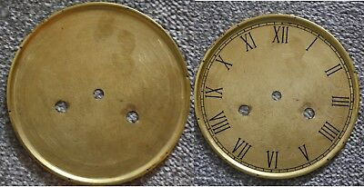 "Vintage 4"" clock face dial ""Thin"" Roman numeral number renovation wet transfer"