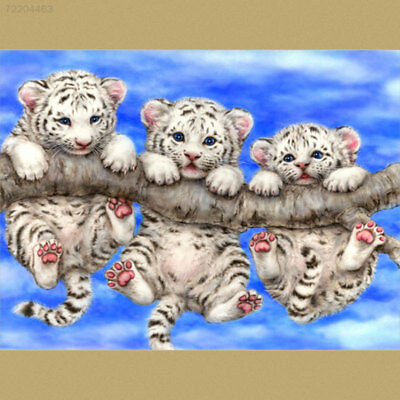 5D84 5D DIY Tigers Diamond Painting Embroidery Cross Stitch Mosaic Living Room D