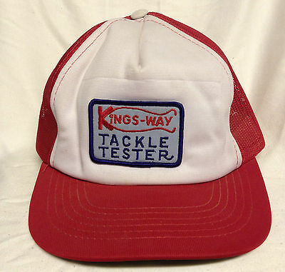 Vintage Kings-Way Tackle Tester Trucker Hat / Cap, Fishing, Unique