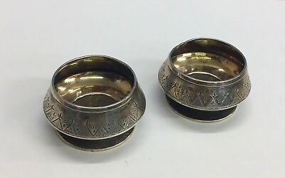 Antique Solid Silver Pair Of Salts Cellars Tiffany & Co. 46.4grams