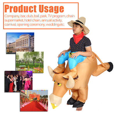 Unisex Inflatable Bull Inflating Adult Costume Suit Parties Cosplay Festivals
