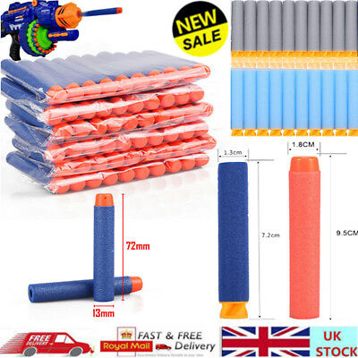60-1000PC Gun Soft Refill Bullets Darts Round Head Blaster Kid Toy