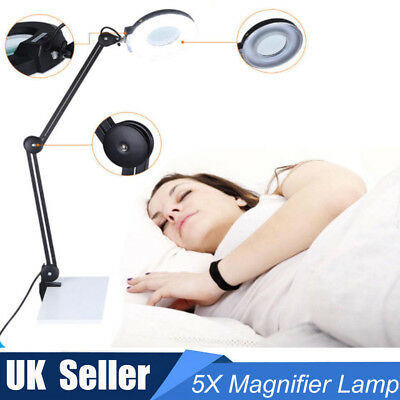 Magnifying Lamp -Desk Magnifier Light Skincare Beauty Nail Manicure Tattoo Salon