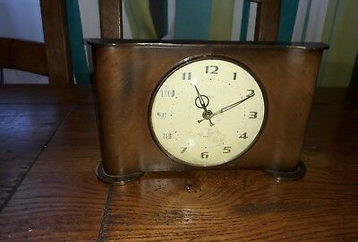 Smiths Wood And Brass 8 Day Floating Balance Mantle Clock  Working