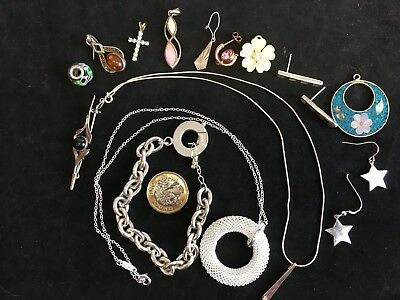 Job Lot of mixed modern Costume Jewellery some silver -B2