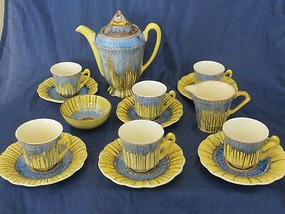 "Woods Ivory Ware /  J&G Meakin Art Deco Coffee Set ""Sunshine"" *REDUCED*"